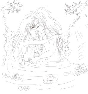 Defteros y Asmita en la Laguna por Athena Ariana
